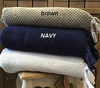 Махровое полотенце  из хлопка и тенсела 90х150 Buldans Cakil brown
