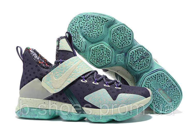 Мужские баскетбольные кроссовки Nike LeBron 14 (Black/Mint)