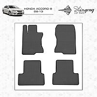 Коврики резиновые в салон Honda Accord c 2008 (4шт) Stingray