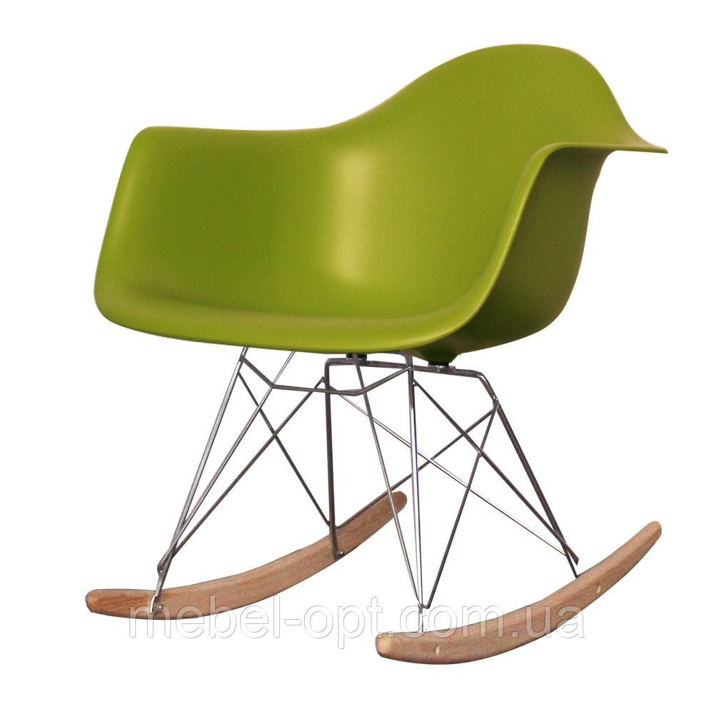 кресло качалка тауэр R зеленый дизайнерское кресло качалка тауэр R