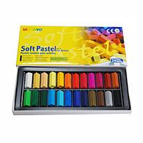 Набор сухой пастели 24 цвета квадратная MPS-24 Mungyo, 94100670