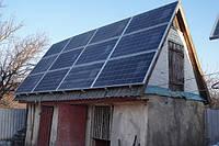 """Солнечная станция под """"зеленый тариф"""" на """"батьківській хаті"""". Отличный вариант. Солнце светит, бизнес работает."""