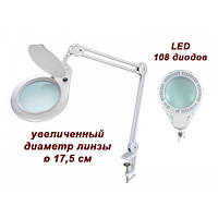 Лампа-лупа настольная 8062 LED 3 диоптрии, Увеличительная лампа-лупа