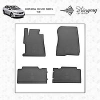 Коврики резиновые в салон Honda Civic седан c 2013 (4шт) Stingray