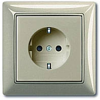 Розетка с заземлением + рамка. ABB Basic 55