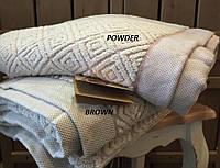 Махровое полотенце  из хлопка и тенсела 90x150 Buldans Knidos brown, фото 1