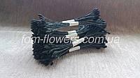 Тайские тычинки черные каплевидные, на дымчатой нити., фото 1