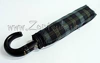 Мужской зонт Три Слона Ручка крюк кожа , купол 116 см (полный автомат), арт.501-9