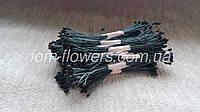Тайские тычинки черные мелкие на дымчатой нитке, фото 1
