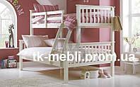 """Кровать двухъярусная трехместная деревянная """"Виктория"""""""