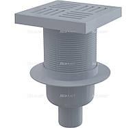Сливной трап 150x150/50, подводка–прямая, решетка–серая, гидрозатвор–мокрый., APV6211, Alcaplast (Чехия)