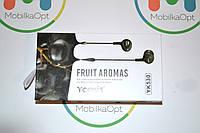 """Наушники с гарнитурой """"Yookie"""" fruit aromas YK 530 (black)"""
