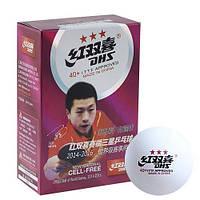 Мячи для настольного тенниса для соревнований 3 шт 40 мм белые