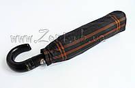 Мужской зонт Три Слона Ручка крюк кожа , купол 116 см (полный автомат), арт.501-10