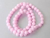 Бусины халцедоновые, 6 мм, розовые, 65 шт/уп, Margo, 8015839