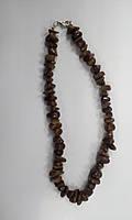 Сердолик коричневый Крошка крупная  Бусы 45 см