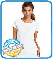 Полиестровая футболка для сублимации женская от производителя Украина