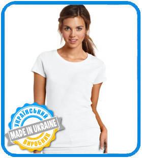 Полиестровая футболка для сублімації жіноча Україна від виробника