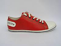 Кеды мужские кожаные Broni КС-20 красные