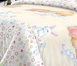 Детский комплект постельного белья Home Line Сатин 110х147 Весёлые сны, фото 2