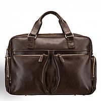 Кожаная мужская деловая сумка Blamont 002 коричневая