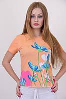 Яркая коттонова модная футболка