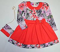 Нарядное платье в цветы 92, 98, 104, 110, 116