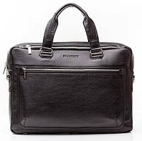 Кожаная мужская деловая сумка Blamont 005 черная