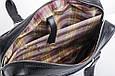 Кожаная мужская деловая сумка Blamont 005 черная, фото 5