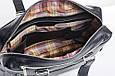 Кожаная мужская деловая сумка Blamont 005 черная, фото 6