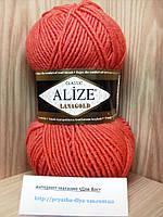 Полушерстяная пряжа (49%-шерсть,51%-акрил,100г/240м) Alize Lanagold 154(коралловый)