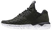 Женские кроссовки Adidas Tubular Runner Primeknit Olives (адидас тубулар) черные