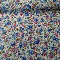 Ткань с мелкими голубыми и розовыми цветами, фото 1