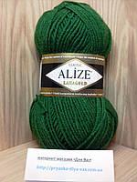 Полушерстяная пряжа (49%-шерсть,51%-акрил,100г/240м) Alize Lanagold 118(зелёный)