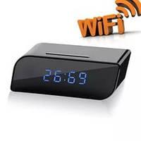 Часы настольные (со скрытой камерой) Wi-fi Трансляция онлайн на смартфон