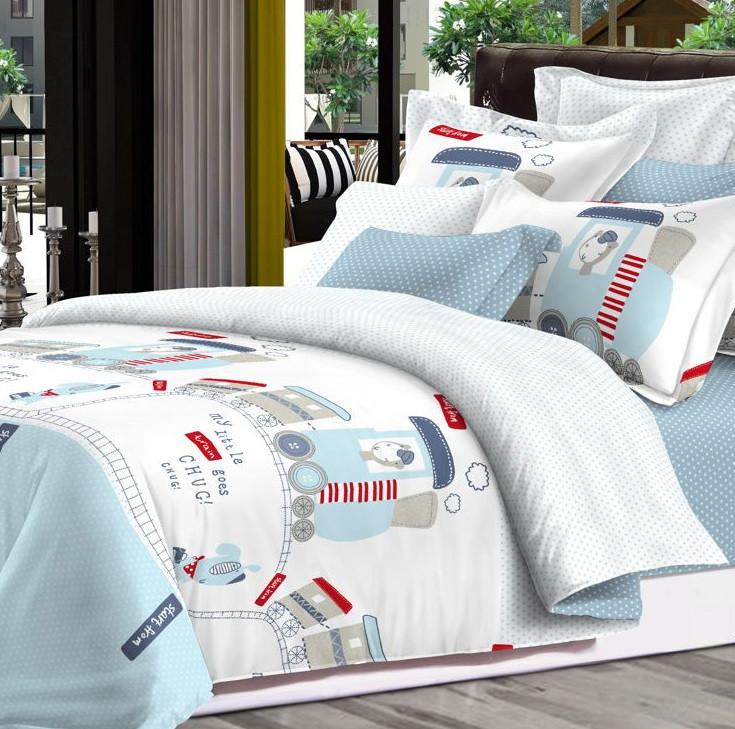 Детский комплект постельного белья Home Line Сатин 110х147 Поезд
