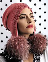 Модная молодежная шапка-ушанка Unika от Willi Польша