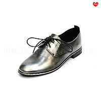 Женские туфли потёртое серебро Basconi