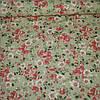 Ткань с мелкими розово-персиковыми цветочками на бежевом фоне, ширина 145 см
