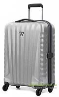 Дорожный чемодан из поликарбоната на 4-х колесах (малый) Roncato Uno Zip 5083 серого цвета