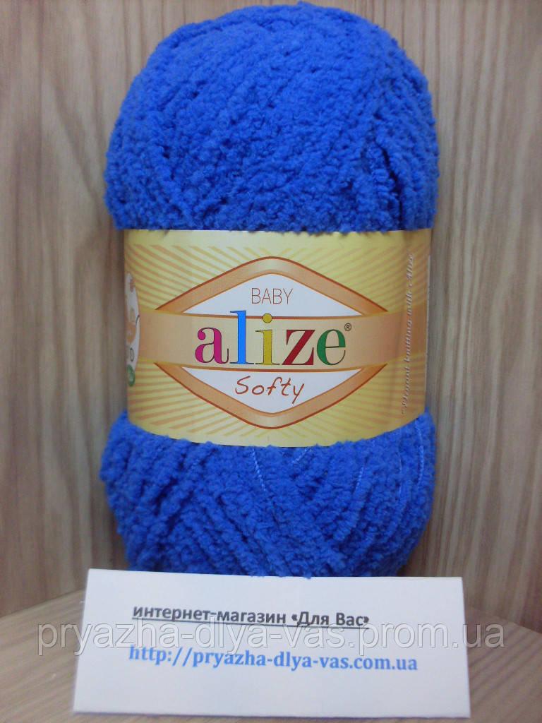 Детская пряжа (100%-микрополиэстер,50г/115м) Alize Baby Softy 141(василёк)