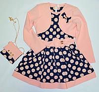Нарядное платье с болеро 104р
