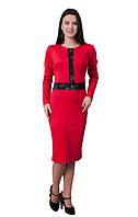 """Женское красивое нарядное платье Lucky """"Лаки"""" из трикотажа размеров 42, 44, 46, 48, 50, 52, 54, 56 зеленое"""