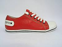 Кеды кожаные Broni КС-20 красные