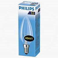 Лампа накаливания свеча Philips B35 40w E14