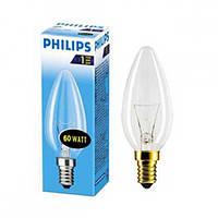Лампа накаливания свеча Philips B35 60w E14