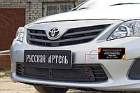 Защитная сетка решетки переднего бампера Toyota Corolla (седан) 2007-2013 г.в. Тойота Корола
