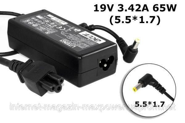 Acer original 65w 19v ac adapter
