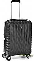 Дорожный чемодан из поликарбоната на 4-х колесах (малый) Roncato Uno Zip Deluxe карбон черный