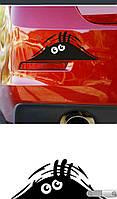 """Виниловая наклейка на машину черная """"монстр"""""""